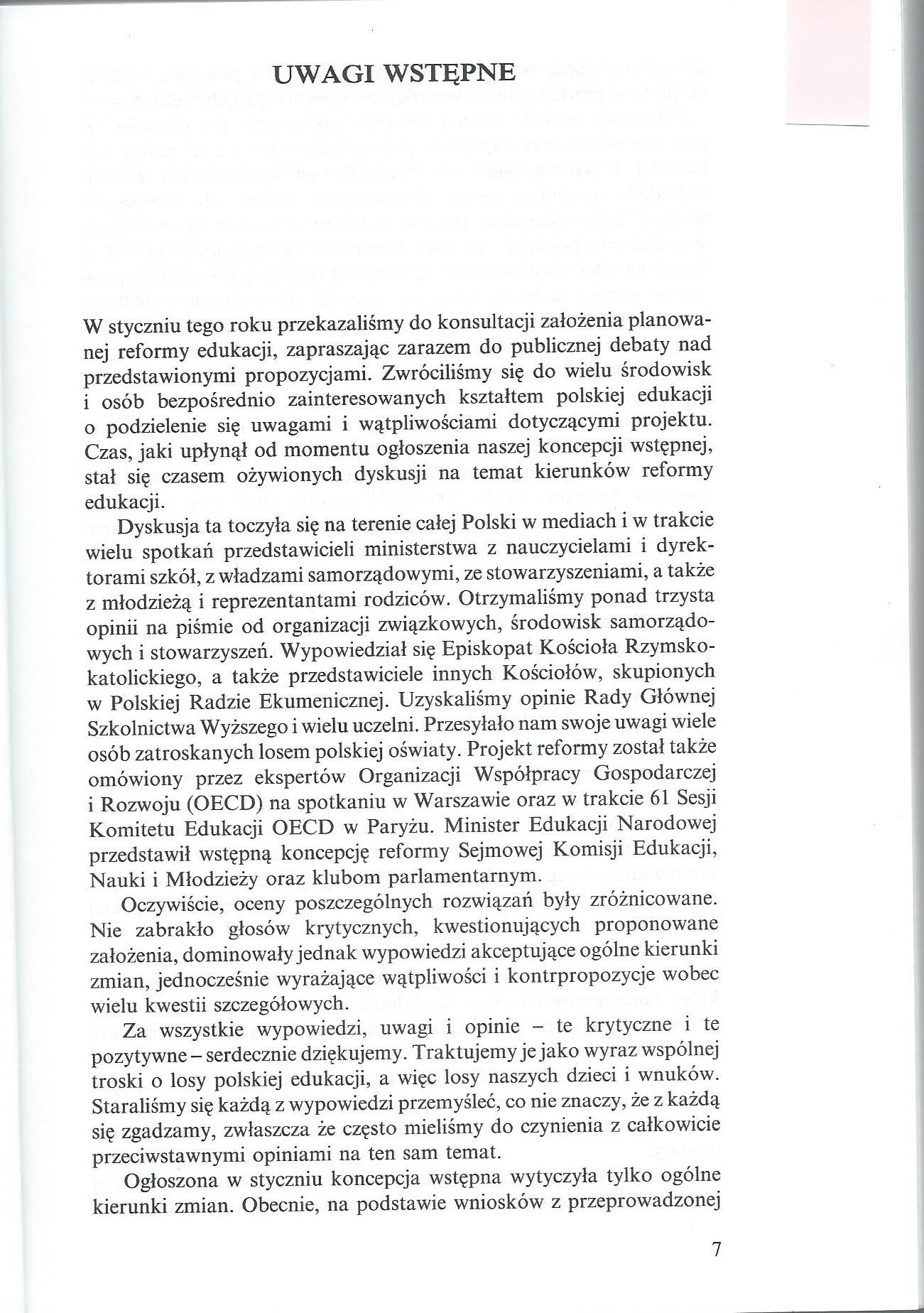 Reforma Systemu Edukacji Projekt - Ksiazeczka pomaranczowa0003