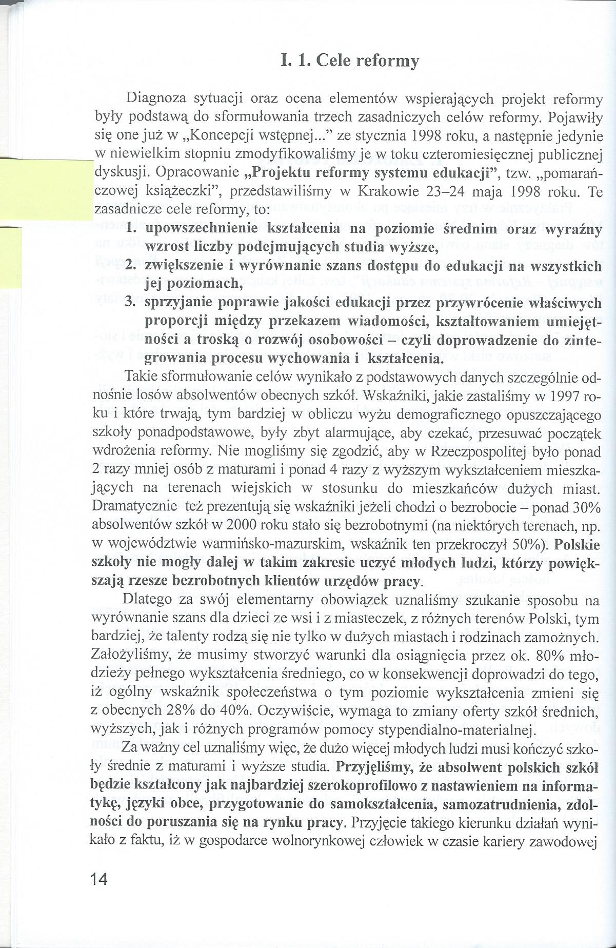 Rzecz o reformie edukacji 1997-2001 - Wojciech Ksiazek0002