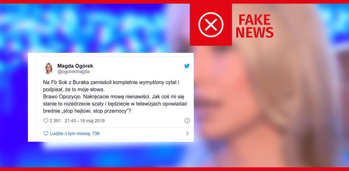 """Magdalena Ogórek nie powiedziała, że """"gdyby nie dzieci, nie byłoby pedofili"""""""