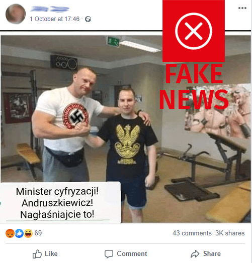 Fałszywe zdjęcie Adama Andruszkiewicza znowu krąży posieci