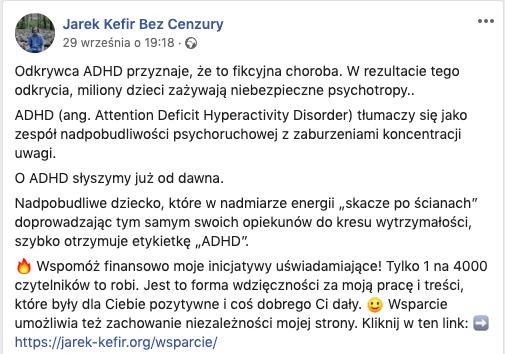 Nie, ADHD nie jest zaburzeniem fikcyjnym