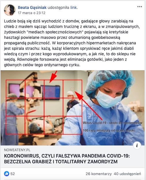 Koronawirus - fake news 2