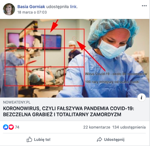 Koronawirus - fake news 1