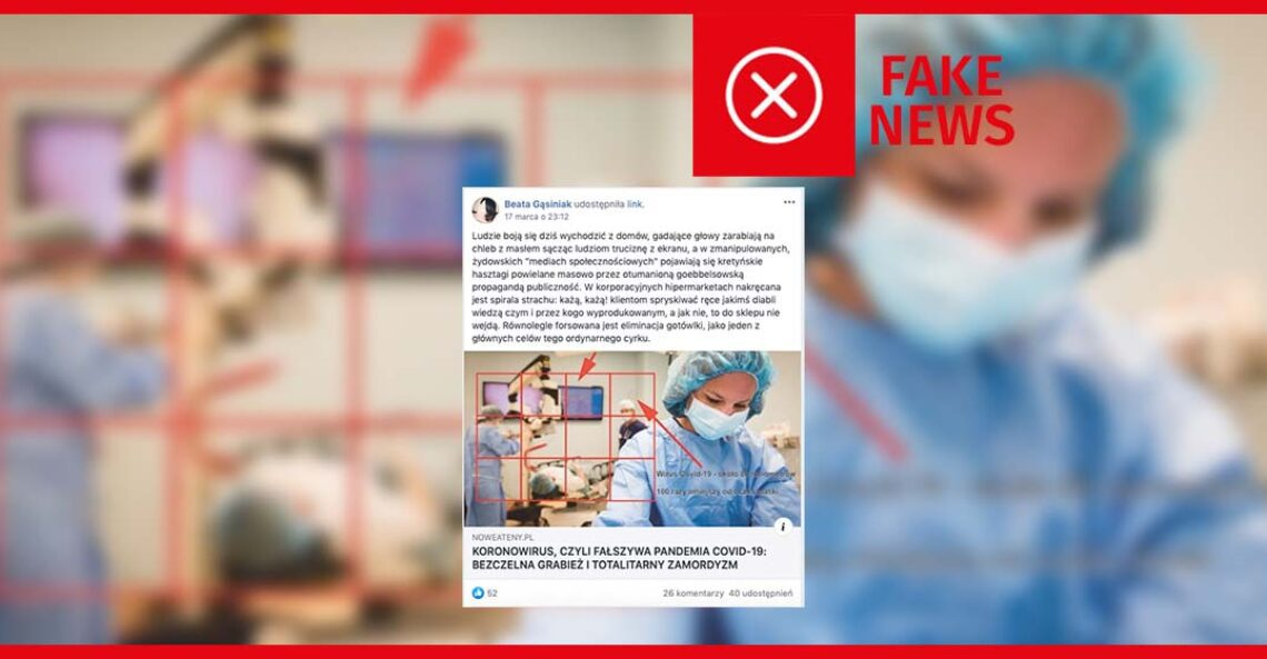 Nie, koronawirus nie jest fałszywą pandemią