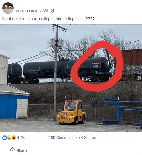 Nie, ten wagon nie przewozi choroby COVID-19
