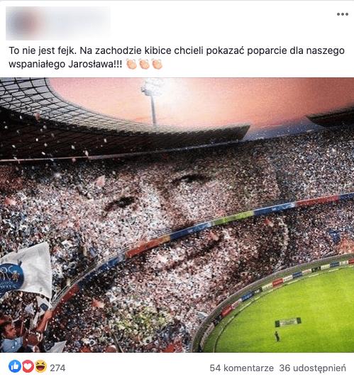 Nie, kibice nie oddali hołdu Jarosławowi Kaczyńskiemu