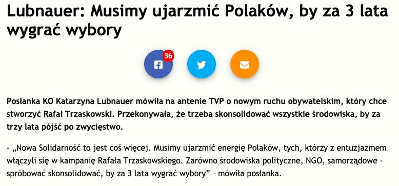 """Nie, Katarzyna Lubnauer nie powiedziała, żetrzeba """"ujarzmić Polaków"""", abywygrać wybory"""