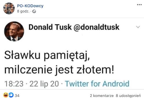 Nie, to nie jest Tweet Donalda Tuska