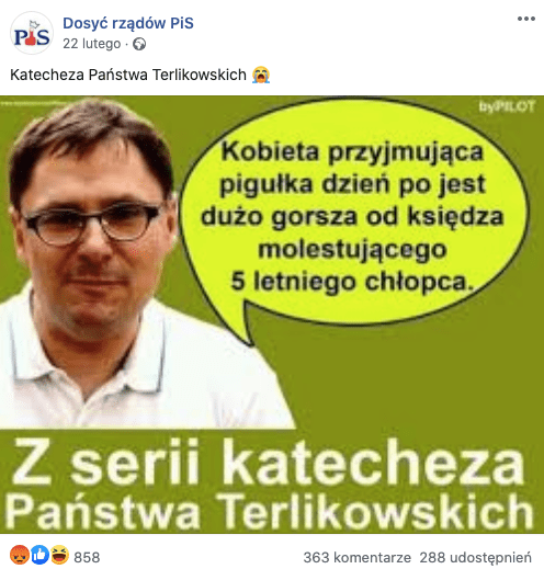 """Tomasz Terlikowski nie powiedział, żekobieta przyjmująca pigułkę """"dzień po"""" jest gorsza od molestującego księdza"""