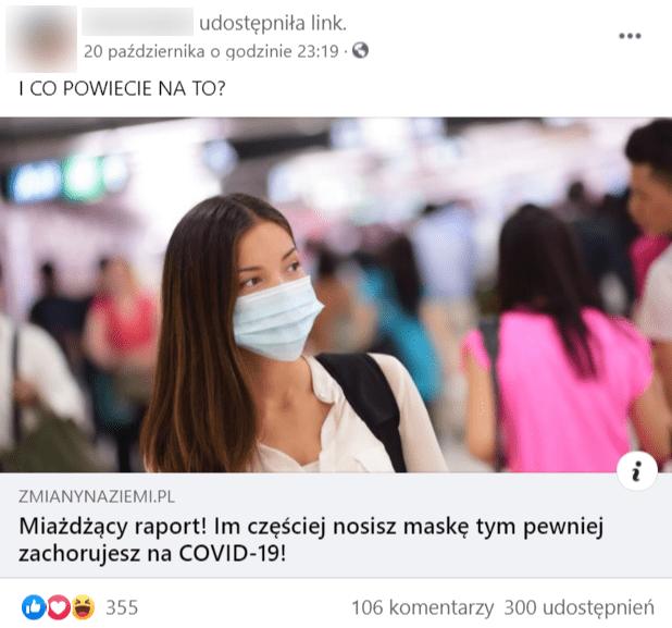 """Zrzut ekranu zFacebooka. Udostępniony tekst portalu zmiany naziemi zopisem """"I co powiecie nato""""."""