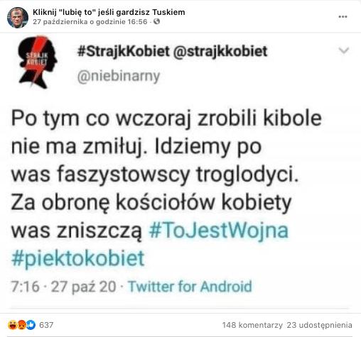 Fałszywy tweet