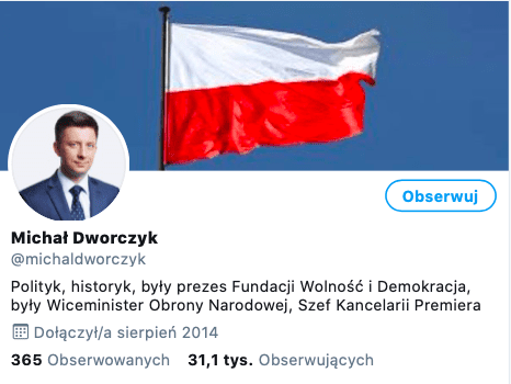 Prawdziwy profil Michała Dworczyka