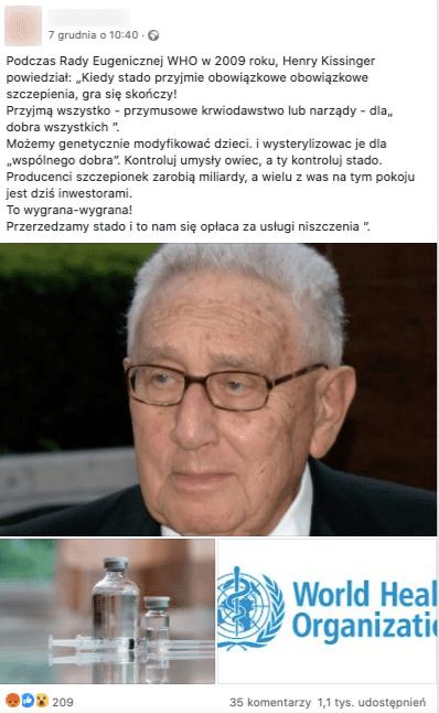 Post zFacebooka