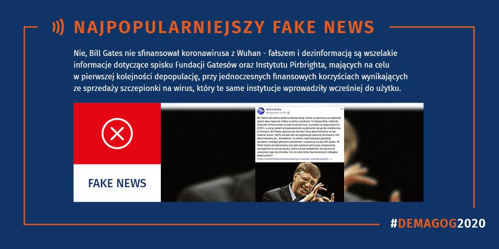 Najpopularniejszy fake news w2020 roku