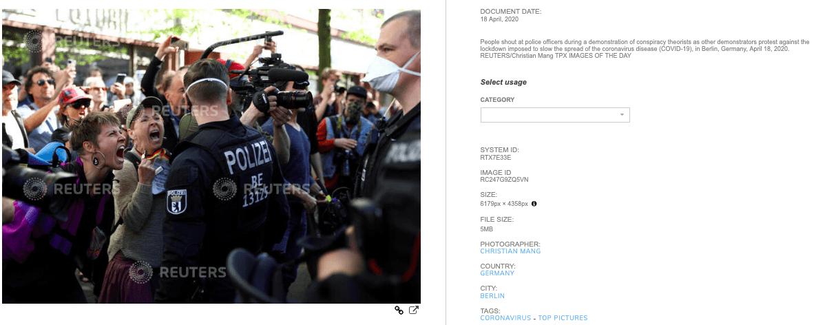 Oryginalne analizowane zdjęcie zportalu Reuters