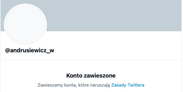 Zablokowane konto naTwitterze