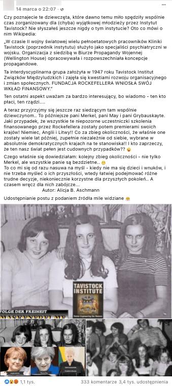 Analizowany post naFacebooku. Poniżej zdjęcie 3 dziewcząt orazporównanie ich rzekomych starszych wcieleń.