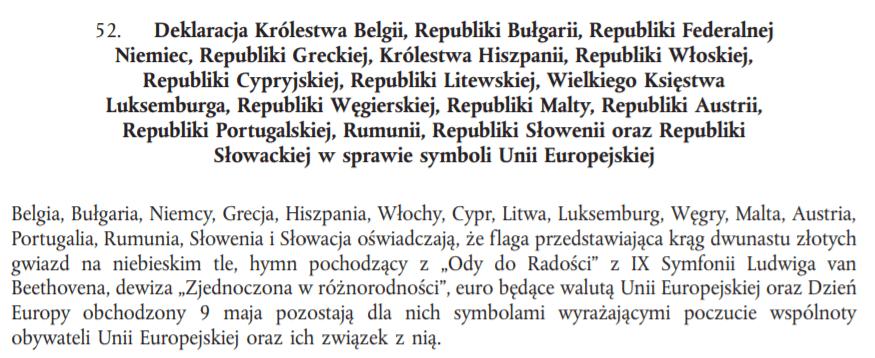 Deklaracja Traktat zLizbony