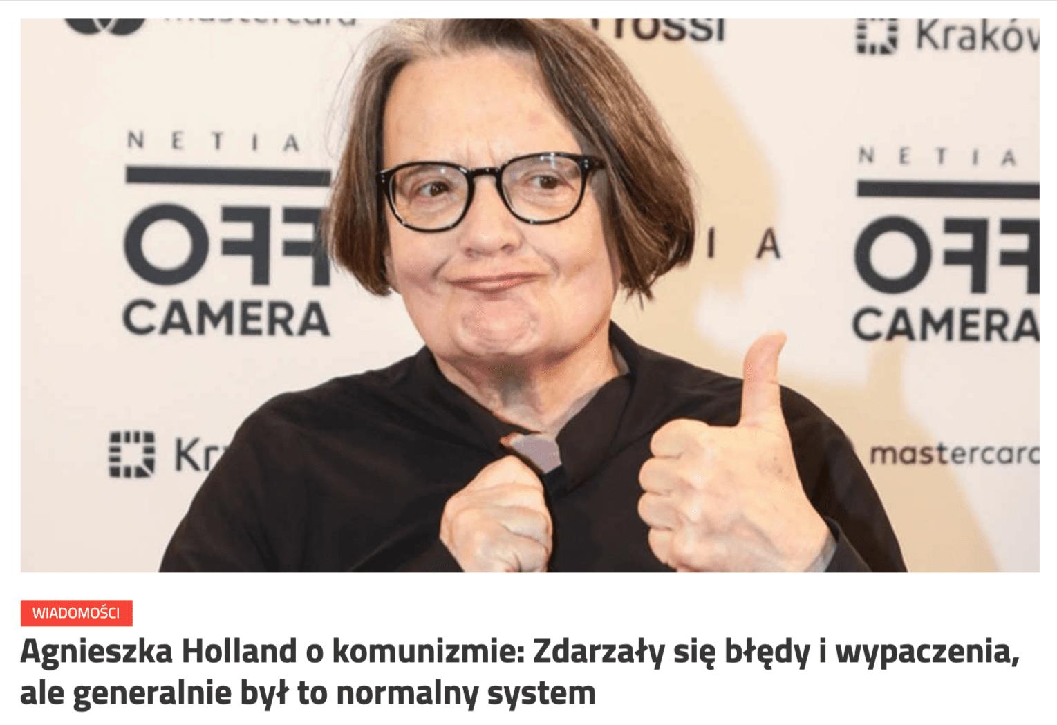 Zrzut ekranu zpoczątkiem artykułu opublikowanego naportalu Magna Polonia.
