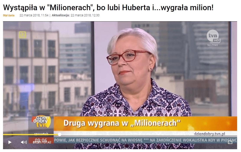 """Kadr zwywiadu z""""Dzień dobry TVN""""."""