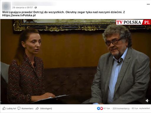 Zdjęcie wywiadu ze Zbigniewem Hałatem wraz zopisem